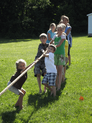 Family Camp tug of war, FamFi