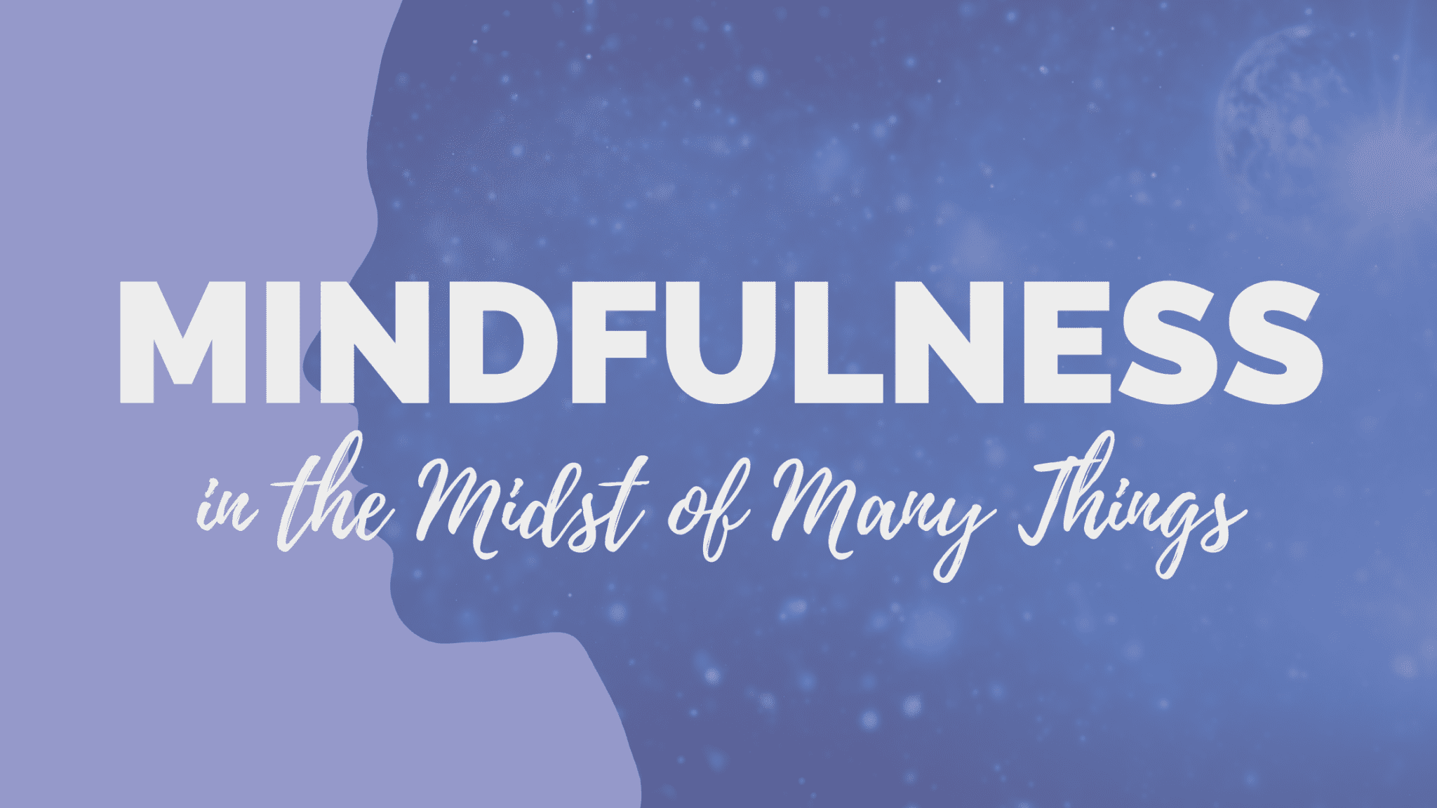 Mindfulness in the Midst of Many Things